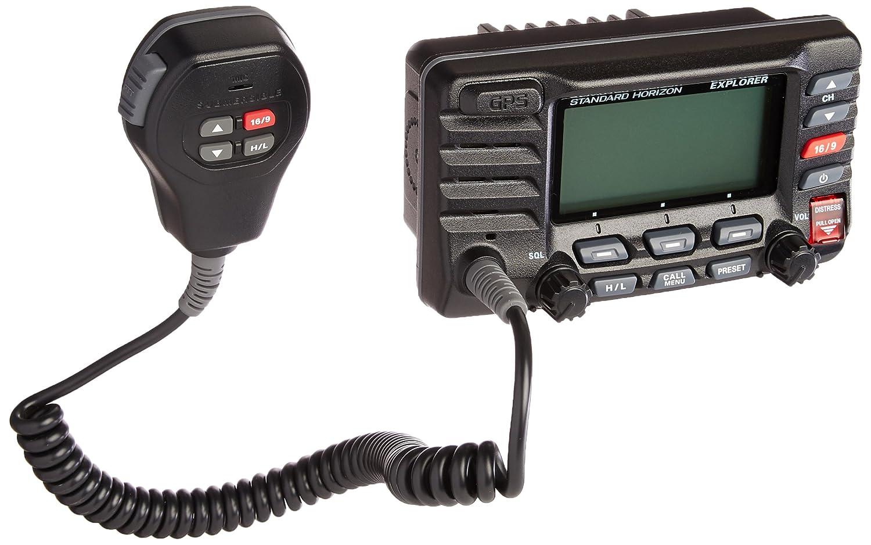 standard horizon gx1700b standard explorer gps vhf marine radio black