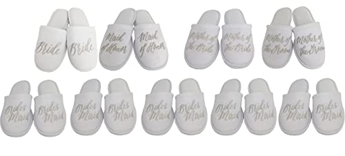 12495382d3c3d2 Personalized Slippers Party Slippers - Bride