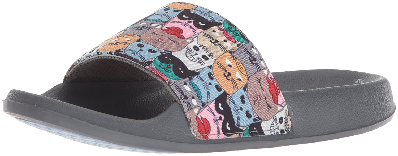 Skechers Women's Pop Ups-Scratch Summer Paddle Slide Sandal B075WZ55LV 7 B(M) US|Multi