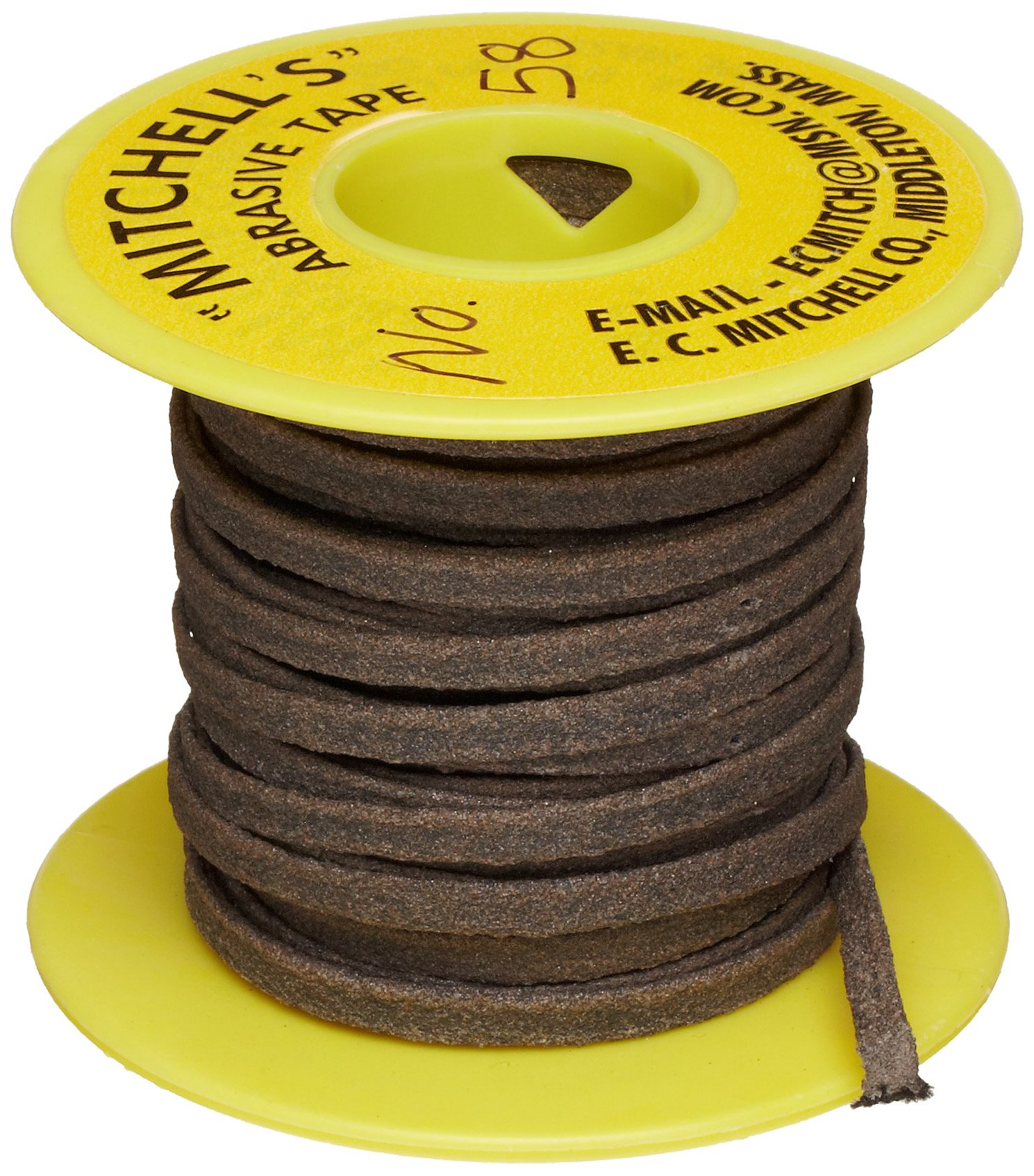 Mitchell Abrasives 58 Flat Abrasive Tape, Aluminum Oxide 150 Grit 3/16'' Wide x 25 Feet by Mitchell Abrasives