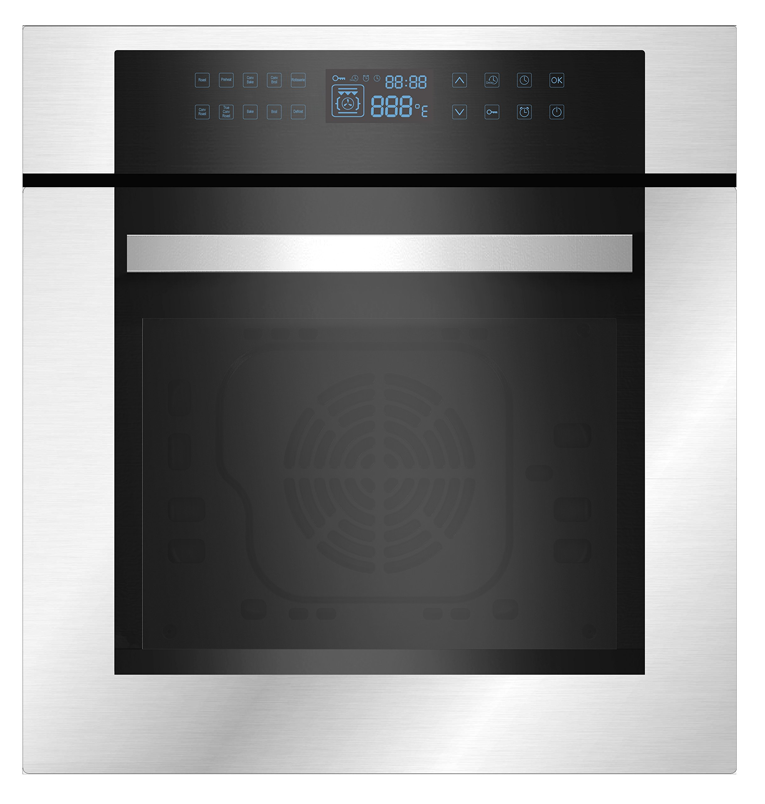Empava 24'' Stainless Steel LED Control Panel Electric Built-in Single Wall Oven EMPV-24WOC02 by Empava