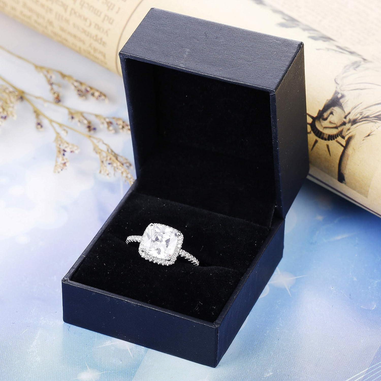 Cadeau de No/ël sailimue Femmes Argent Sterling 925 Bague pour Femme Mariage Engagement Anniversaire Marier Cadeau Bague Taille 49-62