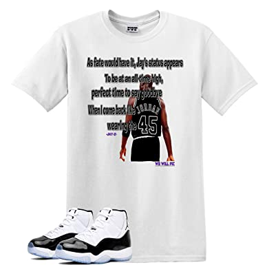 63297e0fc730c3 We WIll FIt Jayz 45 Shirt to Match Jordan 11 Concord (3X-Large)
