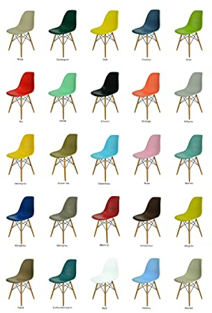 2er/4er /6er Stuhl Set Modern Eiffel Kunstoff Wohnzimmerstuhl ...