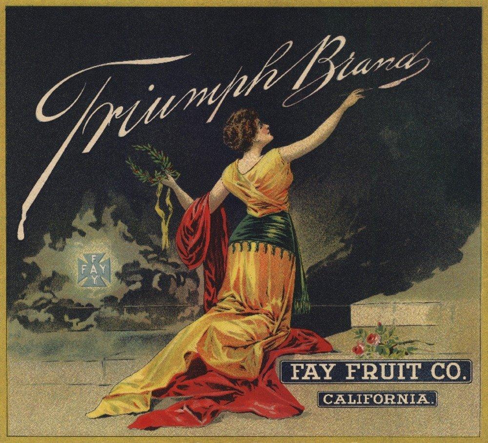 Triumphブランド – カリフォルニア – Citrusクレートラベル 24 x 36 Giclee Print LANT-57792-24x36 24 x 36 Giclee Print  B017ZL37TW