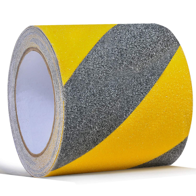 Cinta Antideslizante 10cm. X 5mt. Negro/amarillo Ontwie