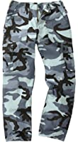 6 Pocket Camouflage Combat Cargo Trousers - Midnight Blue