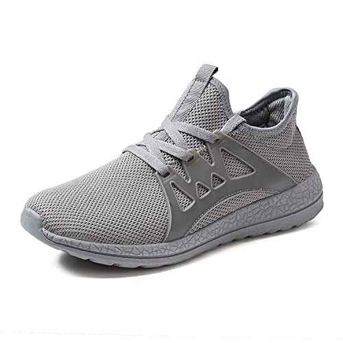 041da0bae6c91 Men s Casual Sneakers Lightweight Walking Shoes Fashion Breathable Mesh  Sport Running Shoes Gray 7 D(