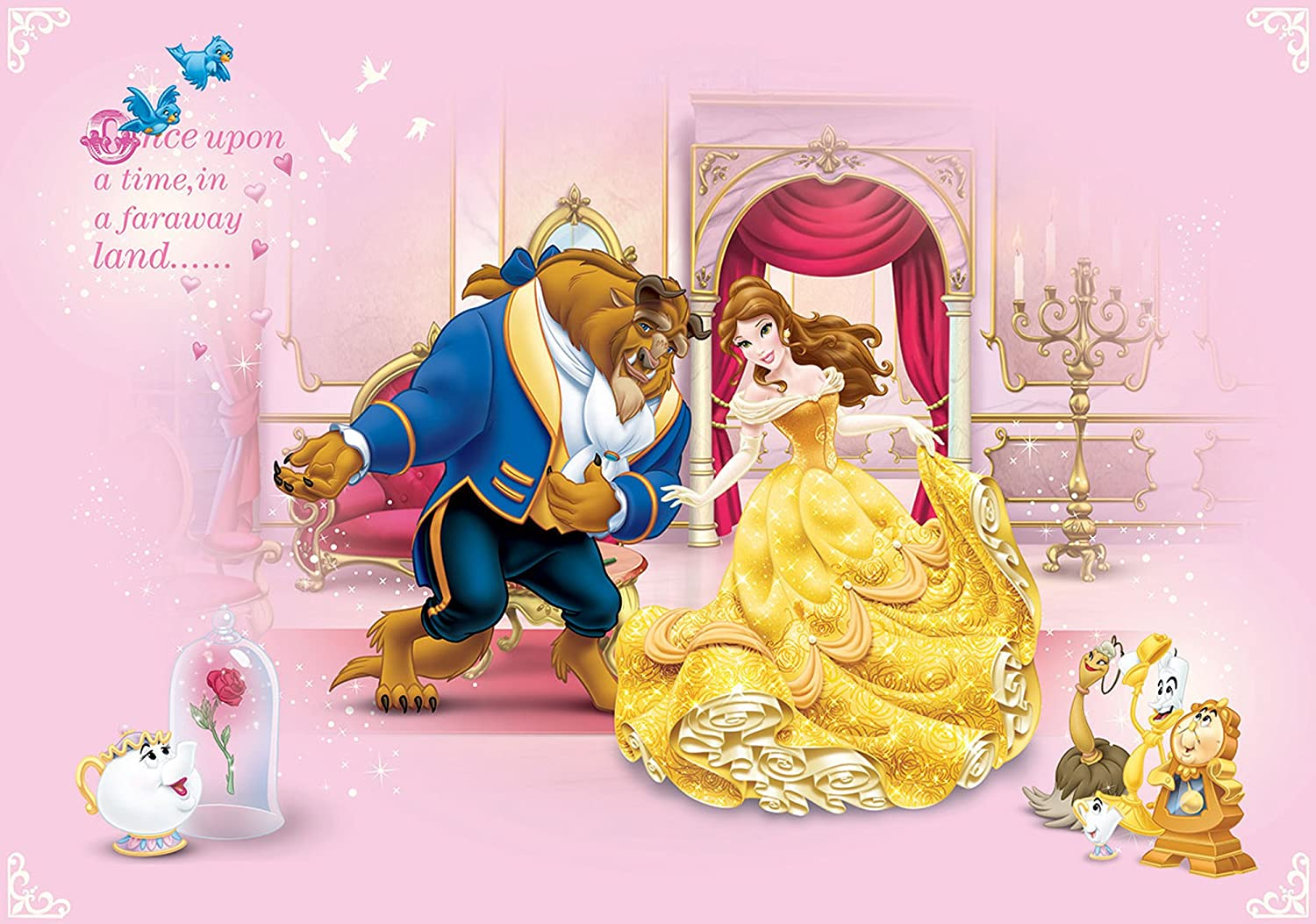 Disney Beauty And The Beast Wallpaper Mural Amazon Ca Tools