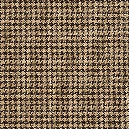 Amazon.com: Espresso y Beige de pata de gallo tapiz tela de ...