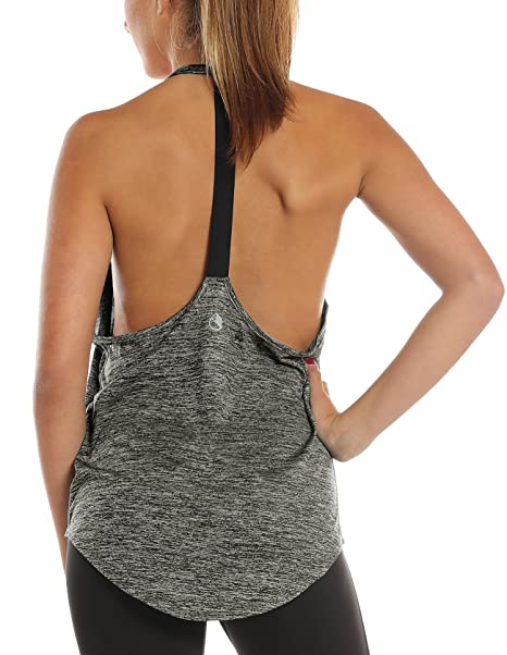 fd5b0e1b8e0f7 icyzone Workout Tank Tops for Women - Athletic Yoga Tops