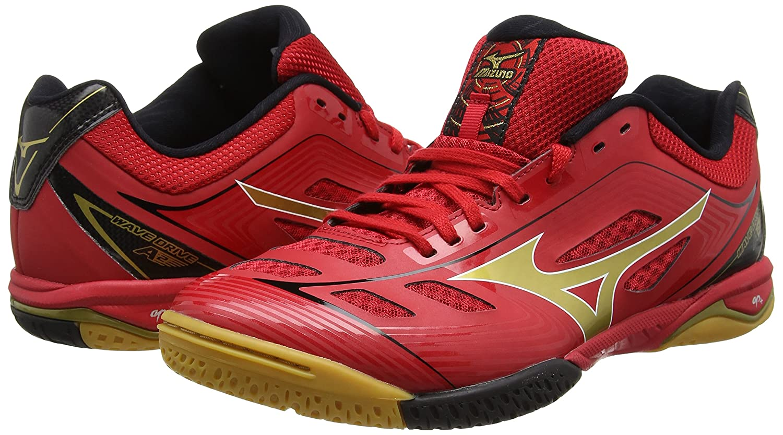 newest 7b9f4 07d6b Mizuno Wave Drive A2 Multi-Court Tennis Shoe, Red Gold Black - 10   Amazon.co.uk  Shoes   Bags