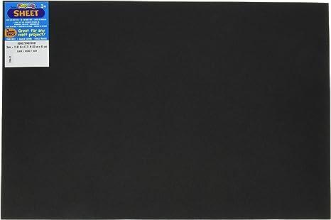 SET OF 10 SHEETS BLACK FOAMIES FOAM SHEETS 12 X18