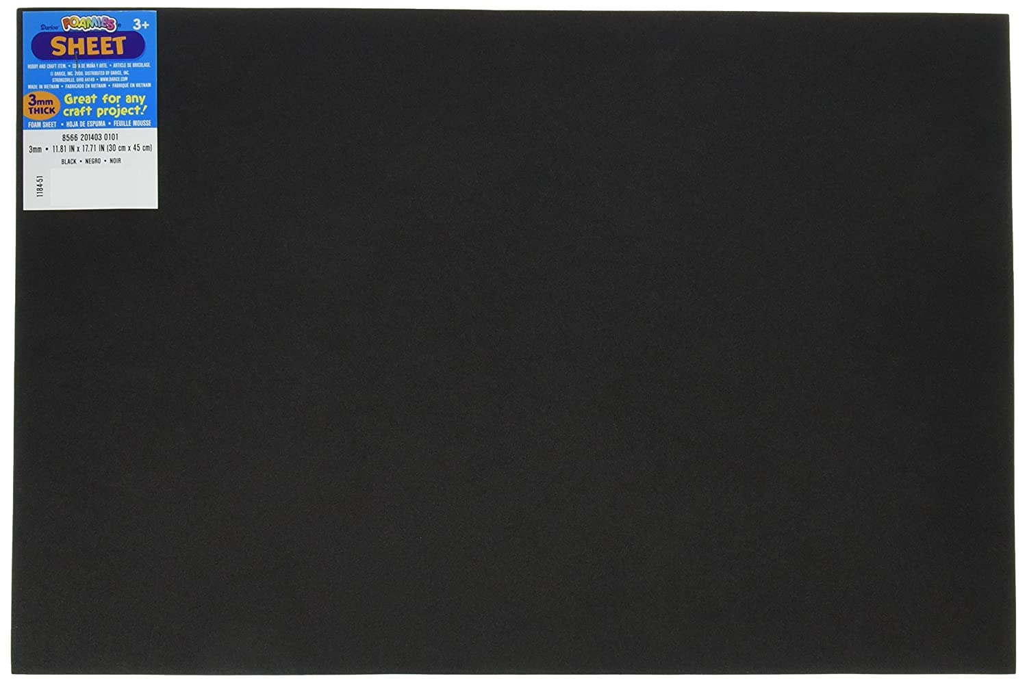 Bulk Buy: Darice Foamies Foam Sheet Black 3mm thick 12 x 18 inches (10-Pack) 1184-51 from Amazon