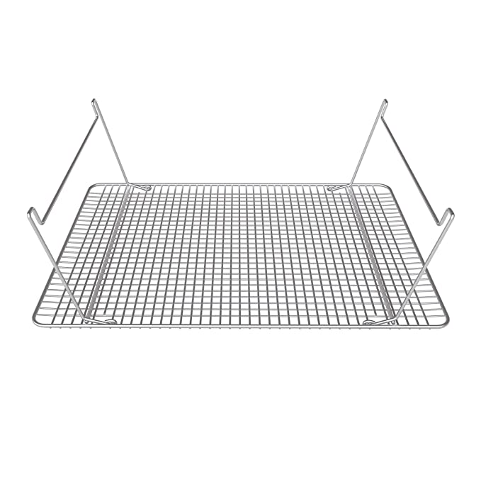 Rejilla de enfriamiento de Acero Inoxidable de Hamilton Housewares (30 cm x 43 cm) – Ideal para apilar en tres niveles – Patas plegables - Para ...