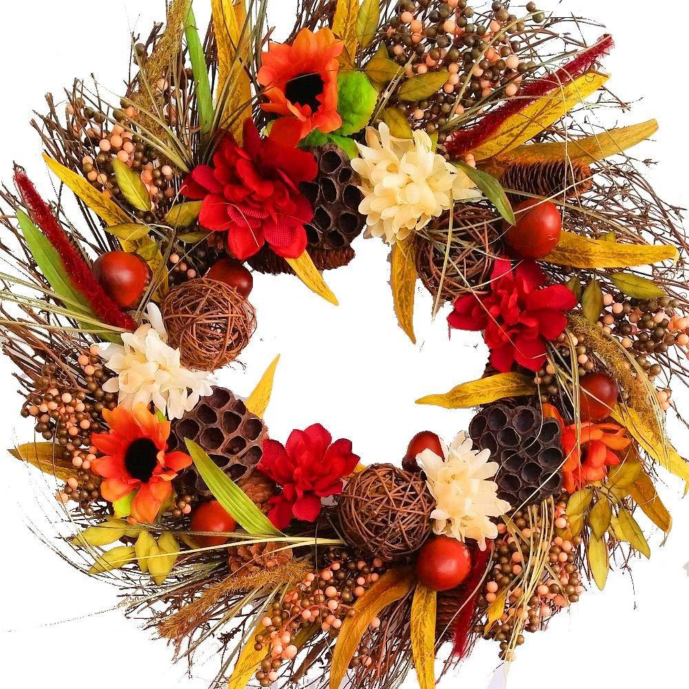 Autumn Country Wreath - Fall - Autumn - Harvest - 21 inch Wreath