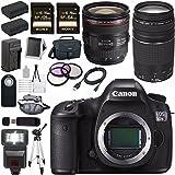 Canon EOS 5DS-R 5DSR DSLR Camera + EF 24-70mm f/4L IS USM Lens + Canon EF 75-300mm f/4-5.6 III Telephoto Zoom Lens + LPE-6 Lithium Ion Battery + Canon 100ES EOS shoulder bag Bundle 9