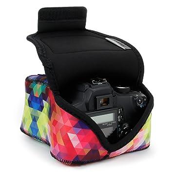 USA GEAR SLR Funda para Cámara (Geométrico) con Protección de Neopreno, Bolsa Cámara Reflex, Estuche Semipermeable Para DSLR - Compatible con Nikon ...