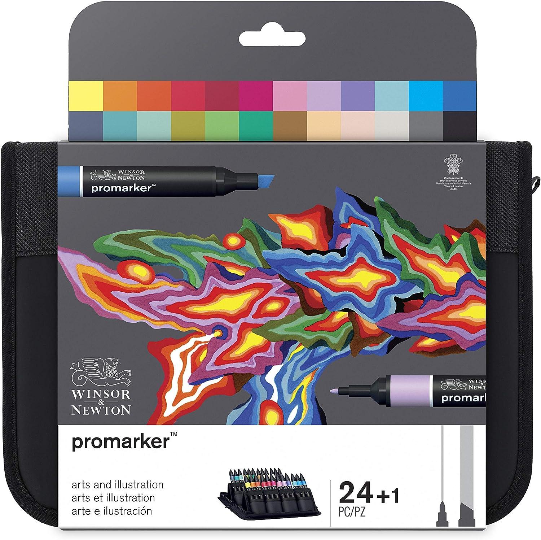 Winsor & Newton ProMarker - Pack de 24 rotuladores de diseño Arte e Ilustración, multicolor