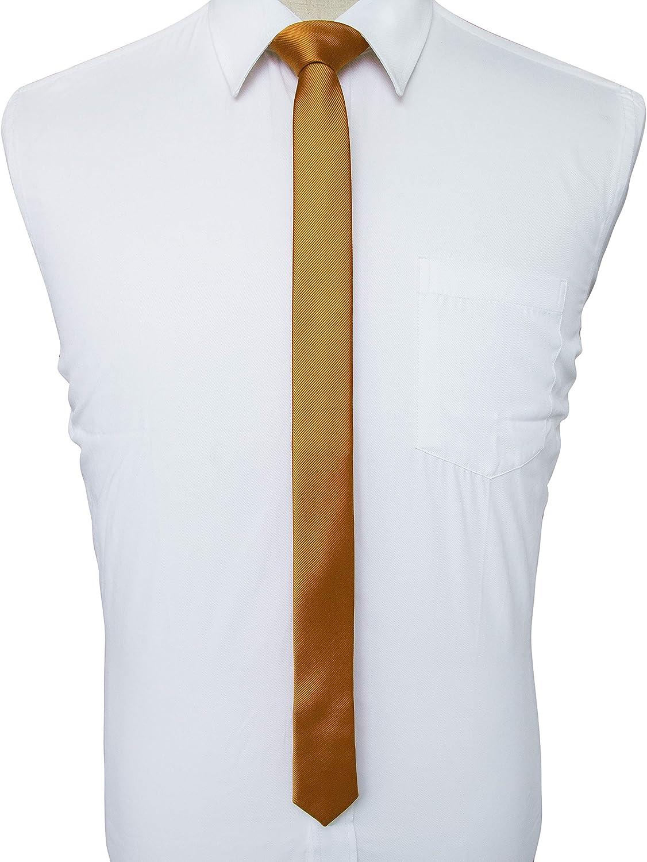 JEMYGINS 4CM Tinta Unita Cravatta Slim da Uomo
