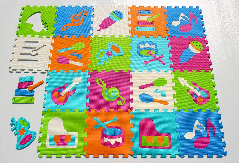 92 x 92 x 1 cm, 9 Unidades meiqicool Alfombra de Espuma para Jugar con Animales