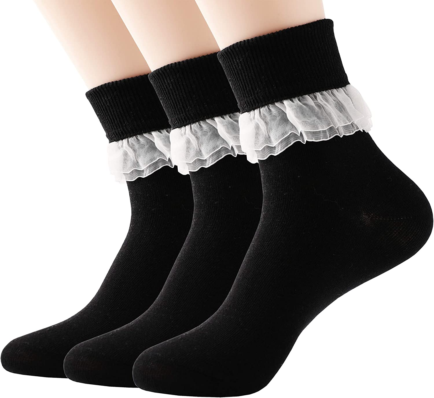 3Pair Middle Ankle Candy Color Boy Girl Child Kids School Stockings Cotton Socks