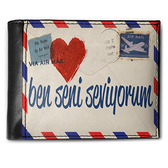 Amazon com: Wallet I Love You Turkish Love Letter from Turkey Men's