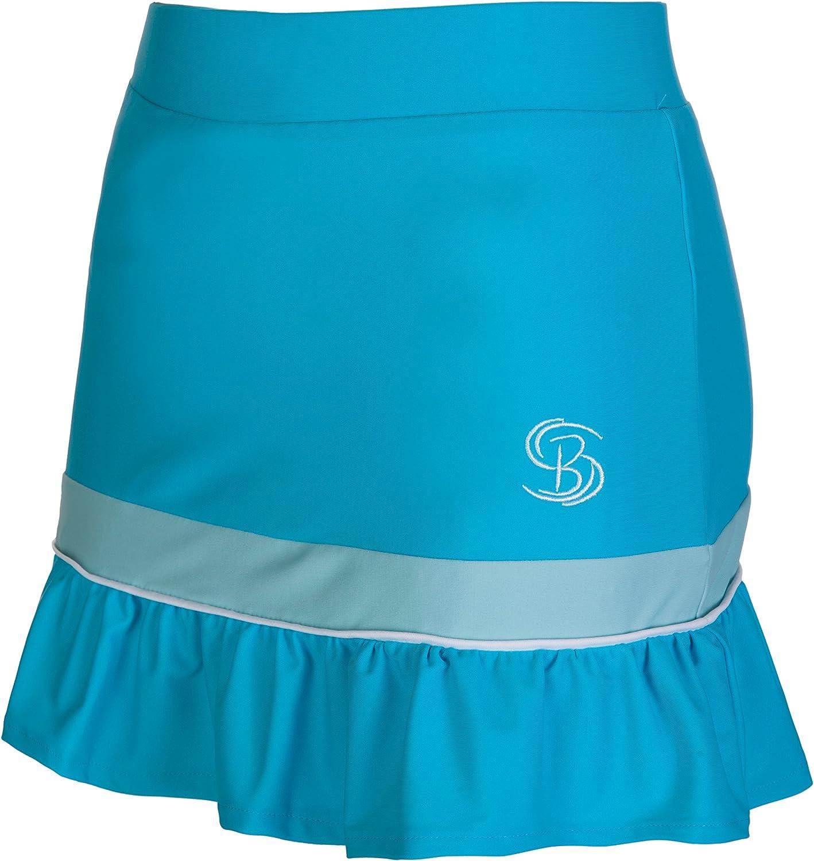 Falda pantalón corto color azul, para tenis, netball, hockey ...