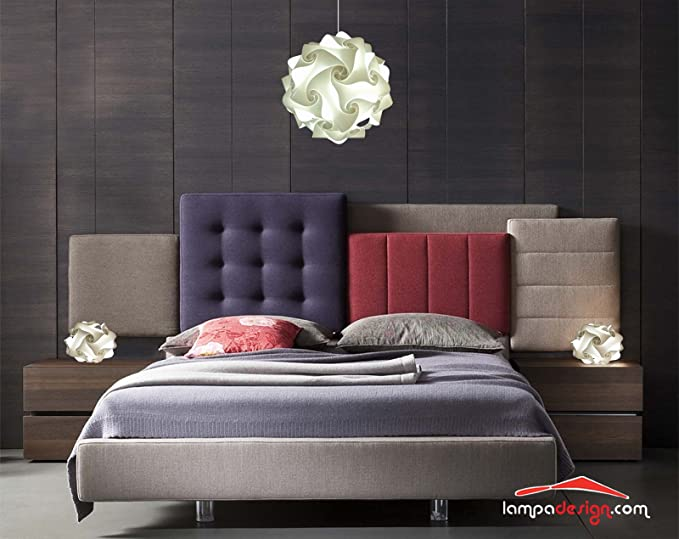 Stupendo Set Lampadario moderno con coppia lampade comodini ...
