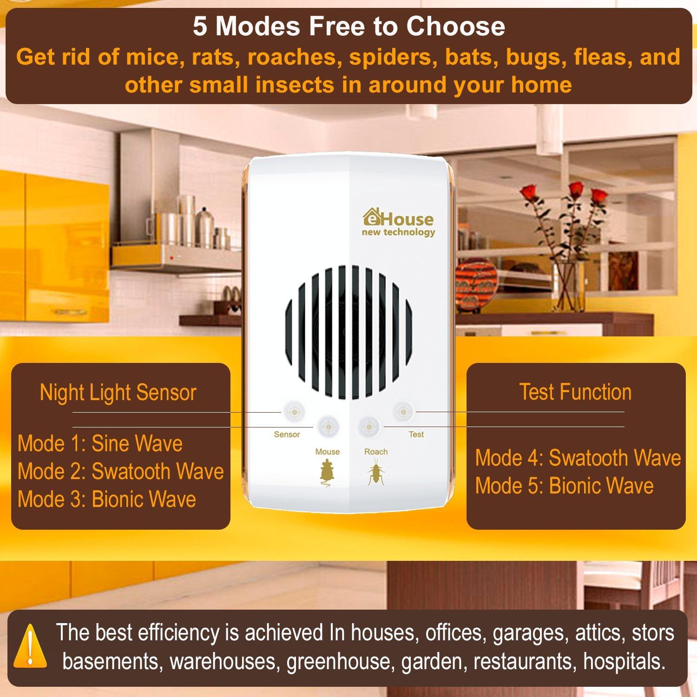 amazon com pest control ultrasonic repeller electronic plug in