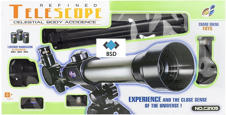 Bsd teleskop inkl stativ für kinder und jugend verschiedene