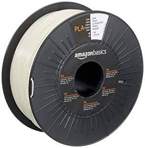 AmazonBasics PLA 3D Printer Filament, 1.75mm, Glow, 1 kg Spool