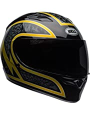 Bell Qualifier Full-Face Motorcycle Helmet (Scorch Gloss Black/Gold Flake, X-Large)