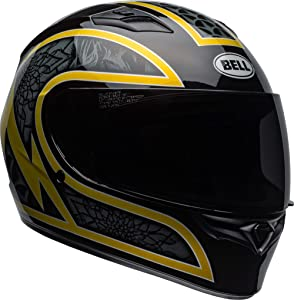 Bell Qualifier Full-Face Motorcycle Helmet (Scorch Gloss Black/Gold Flake, Medium)