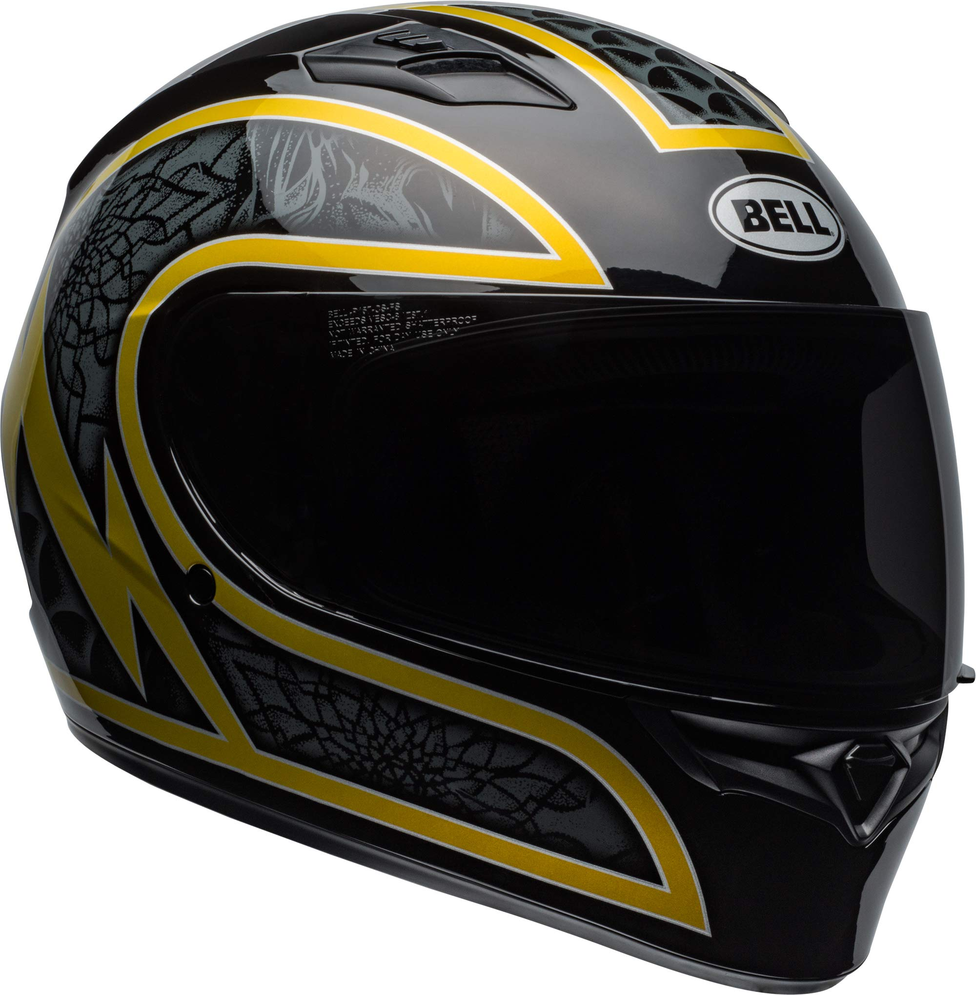 Bell Qualifier Helmet - Scorch (X-SMALL) (GLOSS BLACK/GOLD FLAKE)
