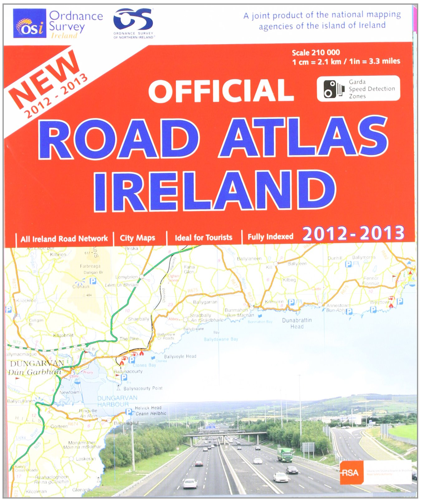 Map Of Ireland Highways.Official Road Atlas Ireland 2012 2013 Ordnance Survey Ireland