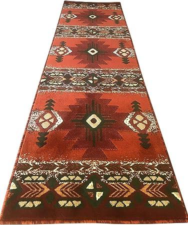 Amazon Com Southwest Native American Runner Area Rug Rust Burgundy Green Beige Concord Design C318 2 Feet X 7 Feet Furniture Decor