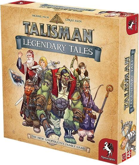Pegasus Spiele 56100E Talisman Legendary Tales - Juego de Mesa (Contenido en alemán): Amazon.es: Juguetes y juegos
