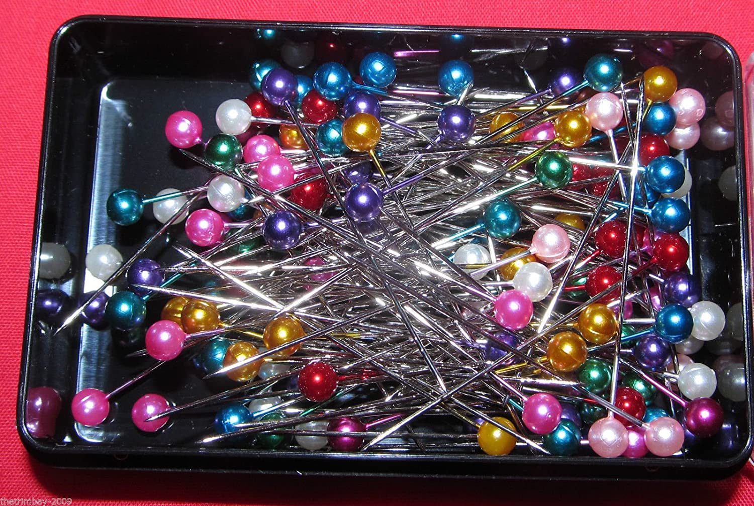 144 Dressmaking Craft Pearl Headed Pins-£1.90 Box- Assorted