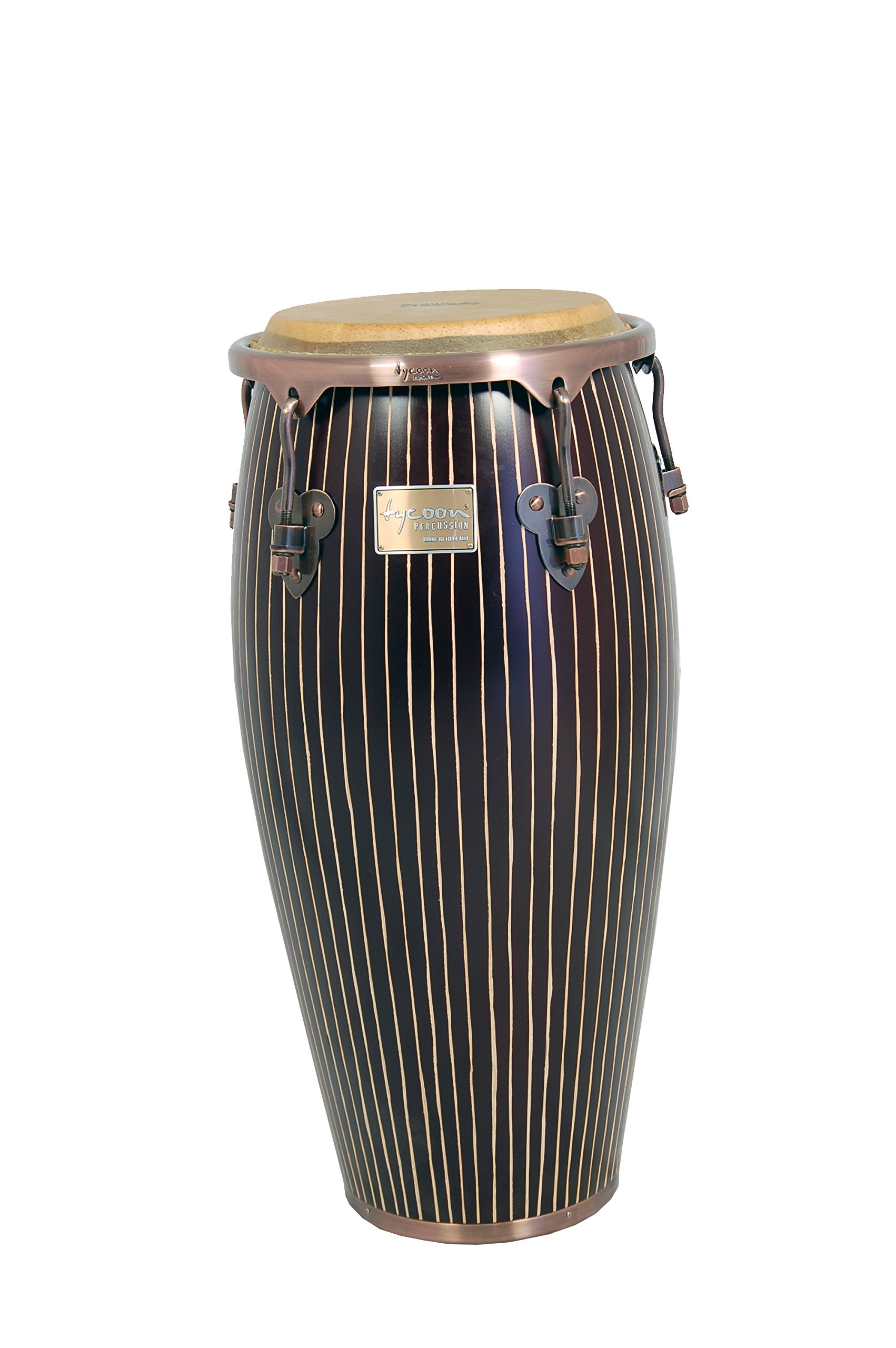 Tycoon Percussion 11 Inch Master Hand Crafted Pinstripe Series Quinto With Single Stand