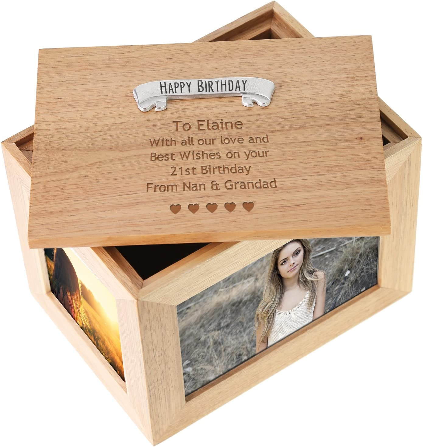 Select Gifts Key of Life Engraved Keepsake Message Box
