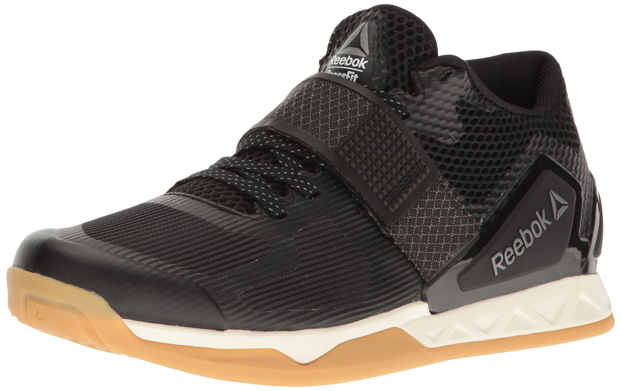 Reebok Women's Crossfit Transition Lft Cross-Trainer Shoe, Black/Classic White/Rbk Rubber Gum/Pewter, 9 M US