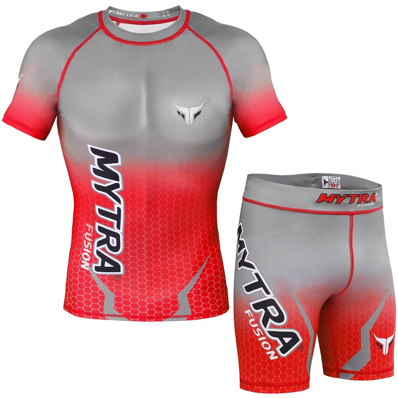 Mytra Fusion Fitness Chothing Set Rash Guard And Tudo Shorts