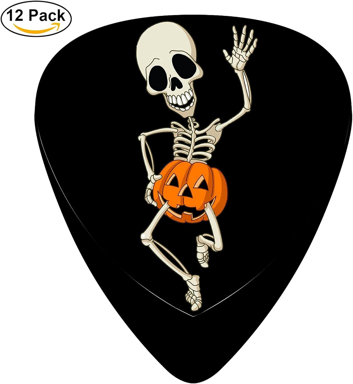 Feliz bailando esqueleto calabaza Púas para guitarra celuloide ...