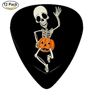 Feliz bailando esqueleto calabaza Púas para guitarra celuloide para ...
