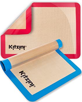 Kitzini Cookie Sheets Professional Grade Silicone Baking Mat