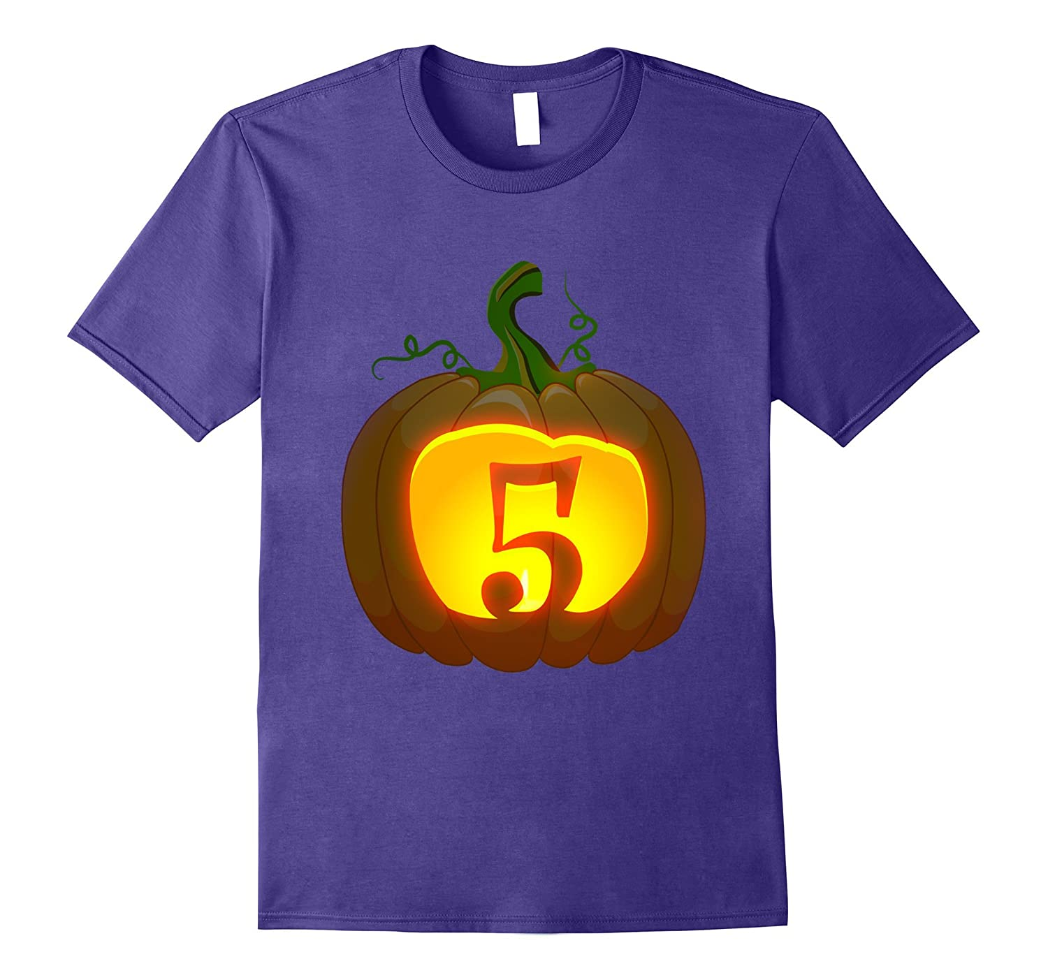 5th Birthday Halloween Pumpkin shirt 2012 birthday-T-Shirt