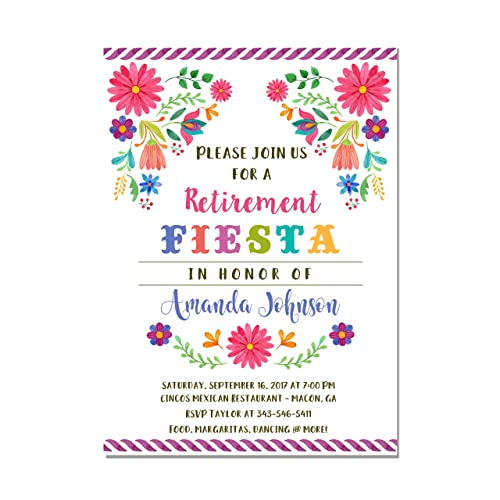 Amazon Com Mexican Fiesta Retirement Party Invitations Set Of 10
