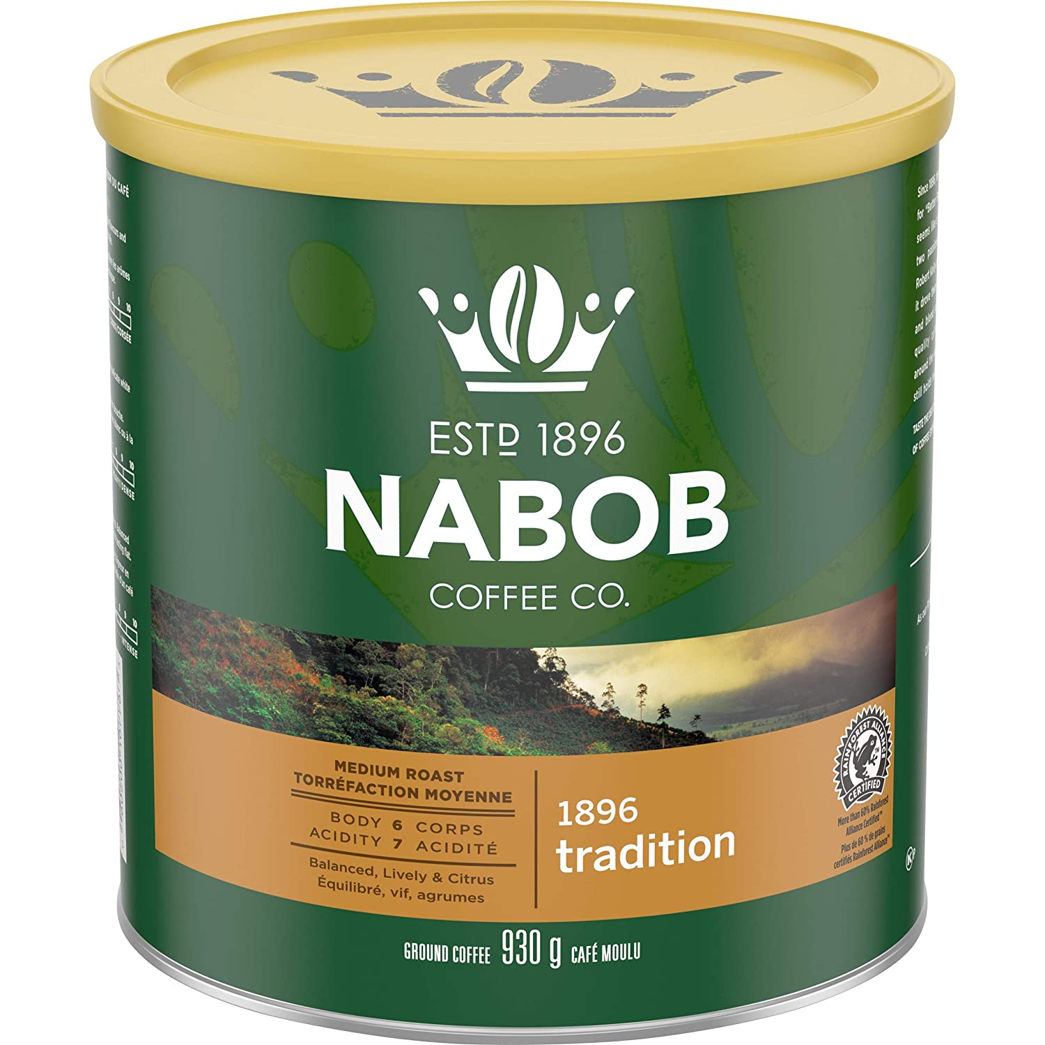 Nabob Traditional Fine Grind Coffee (930g / 2lbs) Made in Canada