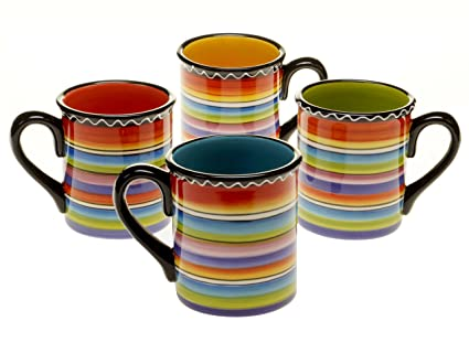 b9f57c8473e Image Unavailable. Image not available for. Color: Certified International  Tequila Sunrise Mug, 15-Ounce, Assorted Designs ...